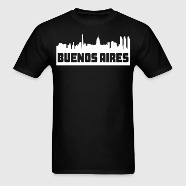 Buenos Aires Argentina Skyline Silhouette - Men's T-Shirt