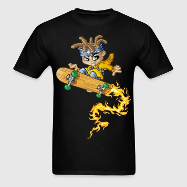 Skateboard and fire - Men's T-Shirt
