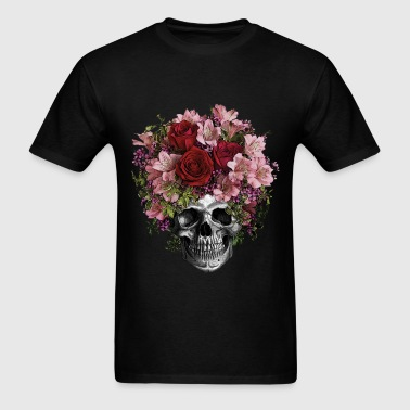 SKULL FLOWERS - Men's T-Shirt