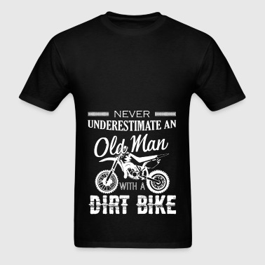 Old Man With Dirt Bike Shirt - Men's T-Shirt