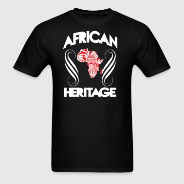 African Heritage With Map - Men's T-Shirt
