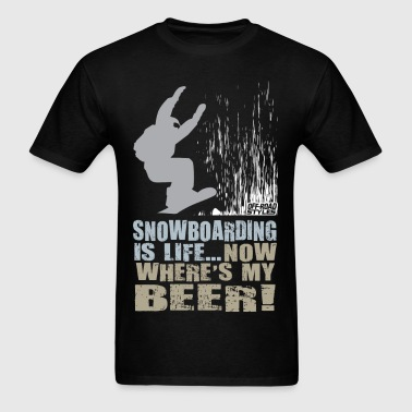 Snowboarder Beer Shirt - Men's T-Shirt