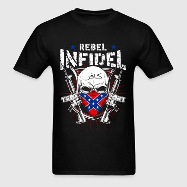 Rebel Infidel - Skull with gun T-shirt - Men's T-Shirt