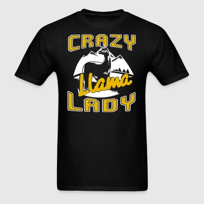 Crazy Llama Lady Shirt - Men's T-Shirt