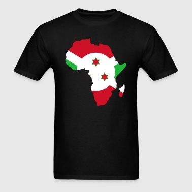 Burundi Flag Africa Map - Men's T-Shirt