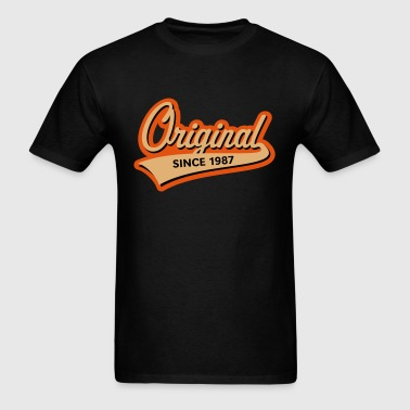 Original Since 1987 (Year Of Birth, Birthday, 3C) - Men's T-Shirt