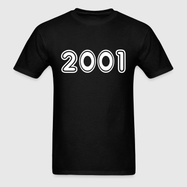 2001, Numbers, Year, Year Of Birth - Men's T-Shirt