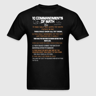 10 Commandments Of Math Shirt - Men's T-Shirt