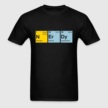 Nerdy Periodic Table Word - Men's T-Shirt