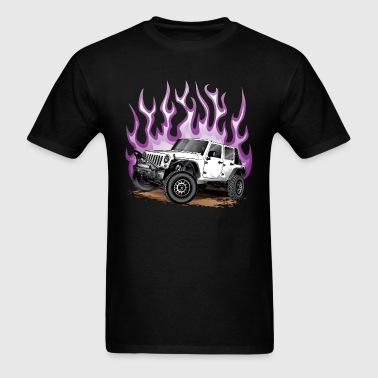 Wrangler Jeep Flaming Hot - Men's T-Shirt