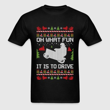 Lawnmower Christmas - Men's T-Shirt