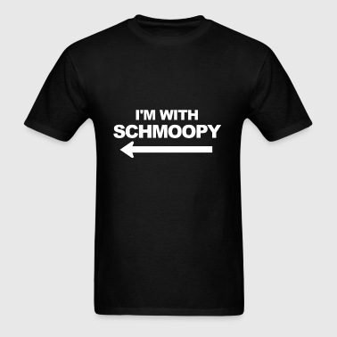 I'm With Schmoopy (left) - Men's T-Shirt