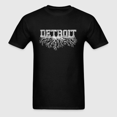 My Detroit Roots Rooted Michigan - Men's T-Shirt