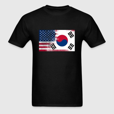 Korean American Half South Korea Half America Flag - Men's T-Shirt
