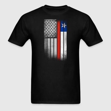 Chilean American Flag - Men's T-Shirt