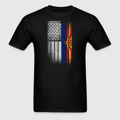 USA Vintage Arizona State Flag - Men's T-Shirt