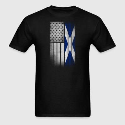 Scottish American Flag - Half Scottish Half Americ - Men's T-Shirt
