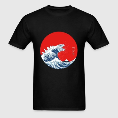Hokusai Kaiju - Men's T-Shirt
