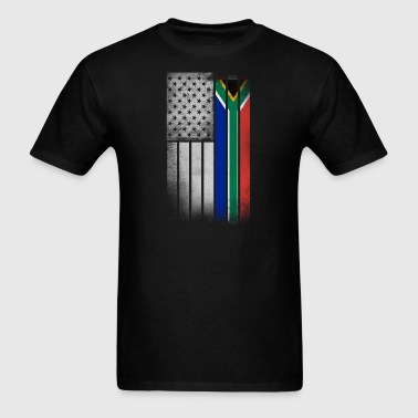 South African American Flag - Men's T-Shirt