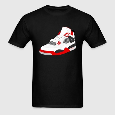 j4 fire red - Men's T-Shirt