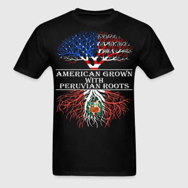 American Grown With Peruvian Roots - Men's T-Shirt