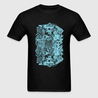 Cool Baby Blue Graffiti Design - Men's T-Shirt