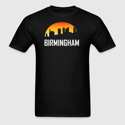 Birmingham Alabama Sunset Skyline - Men's T-Shirt