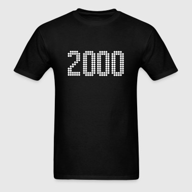 2000, Numbers, Year, Year Of Birth - Men's T-Shirt