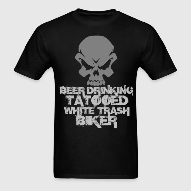 beer_drinkibg_biker - Men's T-Shirt