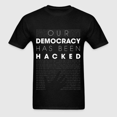 Mr Robot fsociety hacked democracy quotes - Men's T-Shirt