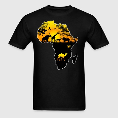 AFRICAN SAFARI MAP - Men's T-Shirt