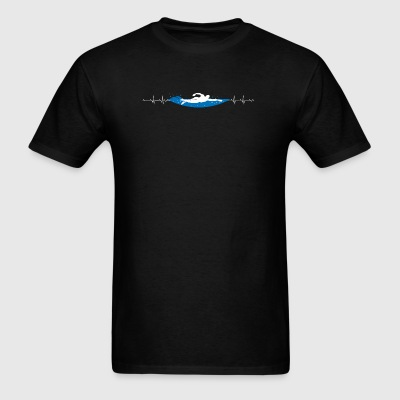 Swimming - Swimming HeartBeat - Men's T-Shirt