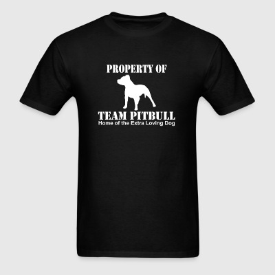 Pitbull - property of team pitbull - Men's T-Shirt