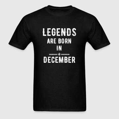 December - Legends are born in December - Men's T-Shirt