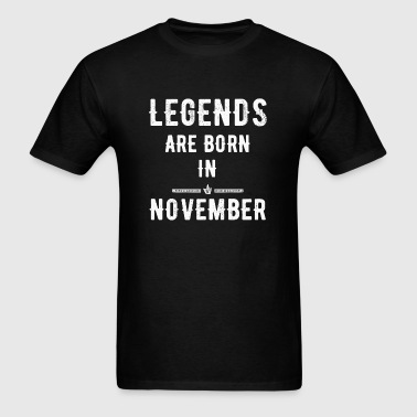November - Legends are born in November - Men's T-Shirt