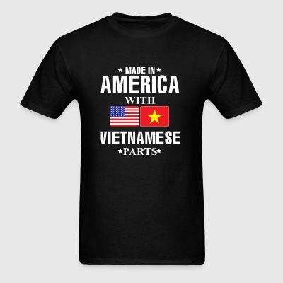 America America and vietnamese flag - Men's T-Shirt