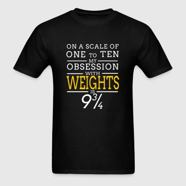 Weight - weights - Men's T-Shirt