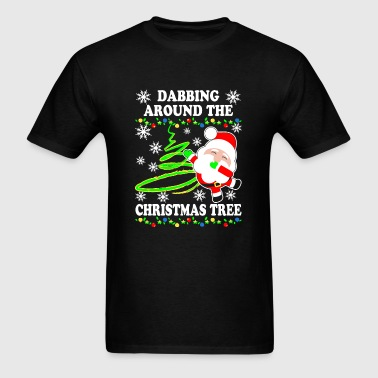 Christmas - Dabbing Around The Christmas Tree Sh - Men's T-Shirt