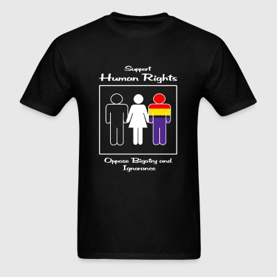 Human Rights - Support Human Rights -- Oppose Bi - Men's T-Shirt