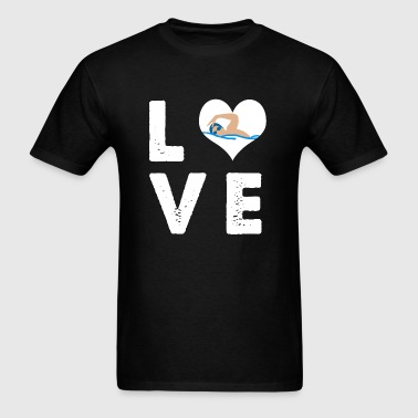 Swimming - I Heart Love Swimming - I love swimmi - Men's T-Shirt