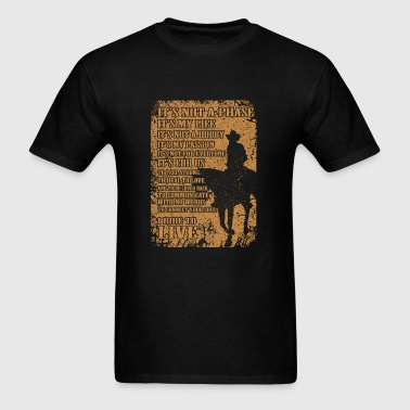 Cowboy - I ride to live - Men's T-Shirt