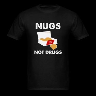 Chicken nugget - Nugs not drugs - Men's T-Shirt