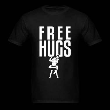 Bjj - Free Hugs Jiu Jitsu BJJ MMA Grappling Rear - Men's T-Shirt
