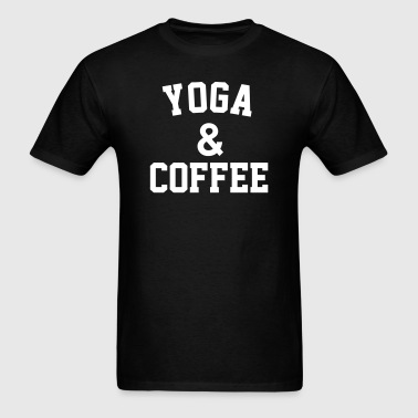 Yoga & Coffee - Men's T-Shirt
