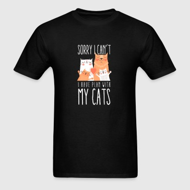 Sorry I Can't I Have Plans With My Cat T-Shirt - Men's T-Shirt