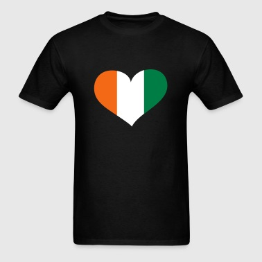 Ivory Coast Heart; Love Ivory Coast - Men's T-Shirt