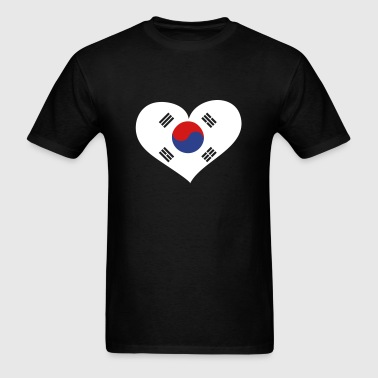 South Korea Heart; Love South Korea - Men's T-Shirt