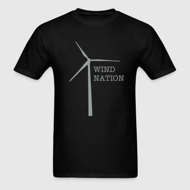 wind turbine - Men's T-Shirt