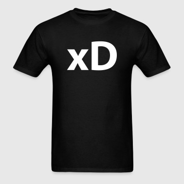 xD (emoticon face) - Men's T-Shirt