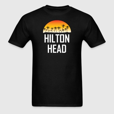 Hilton Head SC Sunset And Palm Trees Beach - Men's T-Shirt
